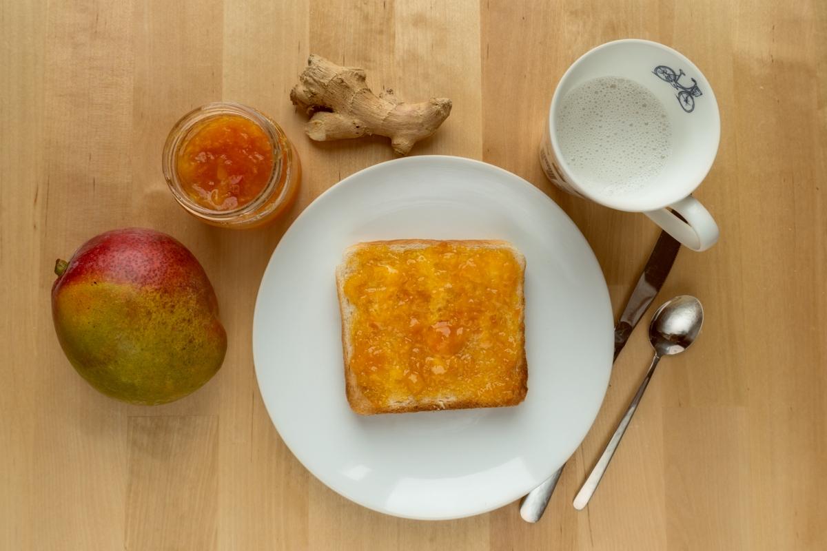 Mermelada de Mango, Papaya y Jengibre