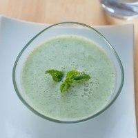 Sopa fría de melón y hierbabuena